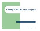 Bài giảng Lý thuyết thông tin trong các hệ mật: Chương 3 - Hoàng Thu Phương