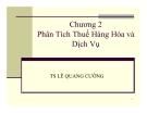 Bài giảng Phân tích chính sách thuế: Chương 2 - Ts. Lê Quang Cường