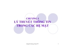 Bài giảng Lý thuyết thông tin trong các hệ mật: Chương 1 - Hoàng Thu Phương