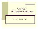 Bài giảng Phân tích chính sách thuế: Chương 5 - Ts. Lê Quang Cường