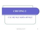 Bài giảng Lý thuyết thông tin trong các hệ mật: Chương 2 - Hoàng Thu Phương
