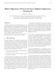 Blind Signature Protocols from Digital Signature Standards