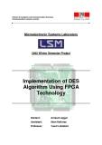 Implementation of DES  Algorithm Using FPGA  Technology
