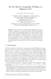 On the Discrete Logarithm Problem on Algebraic Tori