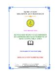 Luận văn: Kế toán bán hàng và xác định kết quả kinh doanh tại xí nghiệp xuất khẩu lương thực AFIEX