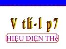 Bài giảng Vật lý 7 bài 25:  Hiệu điện thế