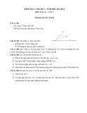 Đề kiểm tra 1 tiết Hình học lớp 6 năm 2013-2014