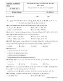 4 Đề kiểm tra HK 1 Hóa 11 - THPT Đồng Xoài (2013-2014)