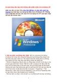 10 cách tăng tốc máy tính không cần phần mềm cho windows XP