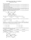 Đề ôn thi ĐH-CĐ môn Vật Lý năm 2014 - Mã đề 344 (Kèm đáp án)