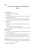 Giáo án GDCD 11 bài 1: Công dân với sự phát triển kinh tế