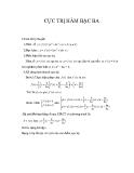 Lý thuyết và bài tập ứng dụng cực trị hàm bậc ba