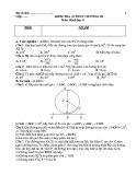 Đề kiểm tra 1 tiết Hình học 9 chương 3 (kèm đáp án)