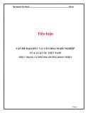 Tiểu luận: Vấn đề đạo đức và văn hóa nghề nghiệp của luật sư Việt Nam - Thực trạng và phương hướng hoàn thiện