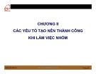 Bài giảng Kỹ năng làm việc nhóm: Chương 2 - Ths. Nguyễn Quang Hưng