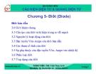 Bài giảng Cấu kiện điện tử và quang điện tử: Chương 4 - Ths. Trần Thục Linh