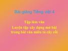 Bài giảng TLV: Luyện tập dựng mở bài trong văn tả cây - Tiếng việt 4 - GV.N.Hoài Thanh