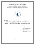 Tiểu luận: Phân tích sự phát triển hệ điều hành IOS theo lý thuyết giải bài toán sáng chế TRIZ