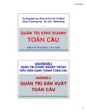 Bài giảng Quản trị kinh doanh toàn cầu: Chương 7 - TS Nguyễn Văn Sơn