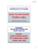 Bài giảng Quản trị kinh doanh toàn cầu: Chương 1 - TS Nguyễn Văn Sơn