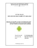 Tiểu luận: Các nguyên lý sáng tạo trong bài toán phát minh, sáng chế và vận dụng trong sự phát triển của hệ điều hành Android