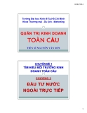 Bài giảng Quản trị kinh doanh toàn cầu: Chương 3 - TS Nguyễn Văn Sơn