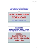 Bài giảng Quản trị kinh doanh toàn cầu: Chương 6 - TS Nguyễn Văn Sơn