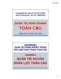 Bài giảng Quản trị kinh doanh toàn cầu: Chương 8 - TS Nguyễn Văn Sơn