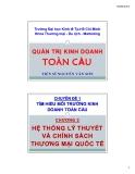 Bài giảng Quản trị kinh doanh toàn cầu: Chương 2 - TS Nguyễn Văn Sơn