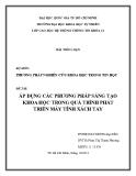 Tiểu luận: Áp dụng các phương pháp sáng tạo khoa học trong quá trình phát triển máy tính xách tay