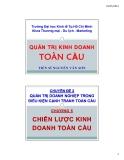 Bài giảng Quản trị kinh doanh toàn cầu: Chương 5 - TS Nguyễn Văn Sơn