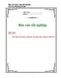 Báo cáo: Tổ chức kế toán nguyên vật liệu tại Công ty Dệt 8-3