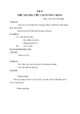 Giáo án Âm nhạc 2 bài 11: Học hát Cộc cách tùng cheng