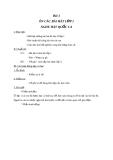 Giáo án Âm nhạc 2 bài 1: Ôn tập hát lớp 1. Nghe Quốc ca