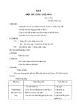 Giáo án Âm nhạc 2 bài 4: Học hát Xòe hoa
