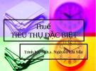Bài giảng Thuế tiêu thụ đặc biệt - ThS. Nguyễn Chi Mai