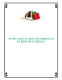 Tuyển tập các bài Văn nghị luận xã hội lớp 12