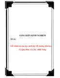 SKKN: Lỗi chính tả của học sinh lớp 1B trường Tiểu học Lê Quý Đôn, Cư Jút - Đắk Nông