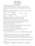Tổng hợp đề kiểm tra 1 tiết môn Sinh lớp 12