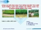 Báo cáo: Đánh giá mô hình sinh thái nông nghiệp tích hợp nuôi trồng thủy sản trong hệ thống canh tác ở ĐBSCL