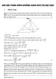 Các bài toán hình không gian cho thi Đại học