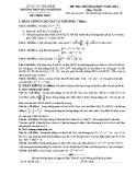 Đề thi thử Đại học môn Toán 2014 - THPT Bắc Duyên Hà (kèm đáp án)