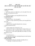Bài 18: Thực hành - Lập quy trình công nghệ chế tạo một chi tiết đơn giản - Giáo án Công nghệ 11 - GV:N.N.Viên