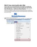 Đặt IE làm trình duyệt mặc định