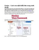 Firefox - Cách xem mật khẩu lưu trong trình duyệt