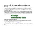 Excel - Đổi số thành chữ trong bảng tính Excel