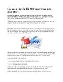 Các cách chuyển đổi PDF sang Word đơn giản nhất