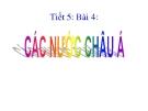 Bài 4: Các nước châu Á - Bài giảng điện tử Sử 9 - GV:M.T.Thanh