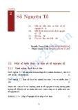 Toán học - Chương 2: Số nguyên tố