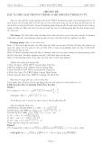 Chuyên đề đặt ẩn phụ giải phương trình và hệ phương trình vô tỷ - THPT: Nguyễn Huệ